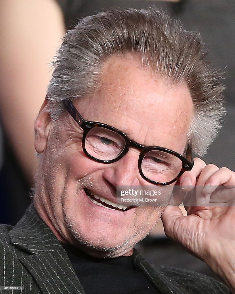 Actor Sam Shepard speaks onstage during the 'Discovery Channel - Klondike' panel discussion at the Discovery Communications portion of the 2014 Winter Television Critics Association tour at the Langham Hotel on January 9, 2014 in Pasadena, California.