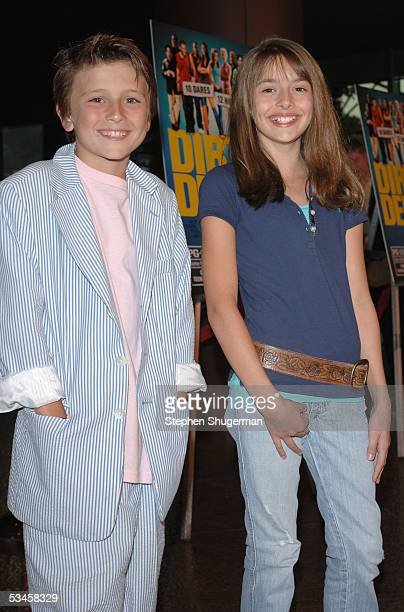 Actor Sam Stone and actress Vivien Cardone attend the world premiere of Dirty Deeds at the Directors Guild of America on August 23 2005 in Los...