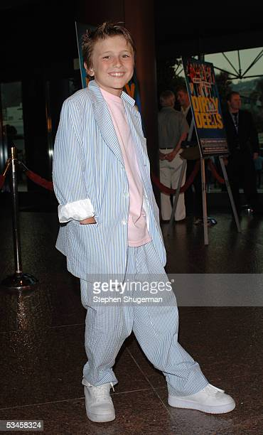Actor Sam Stone attends the world premiere of Dirty Deeds at the Directors Guild of America on August 23 2005 in Los Angeles California