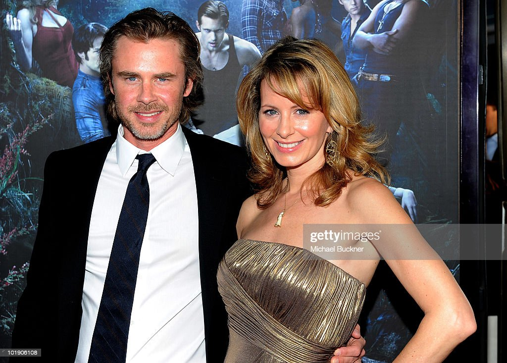 Actor Sam Trammell (L) and girlfriend Missy Yager arrives at the premiere of HBO's 'True Blood' Season 3 at The Cinerama Dome on June 8, 2010 in Hollywood, California.