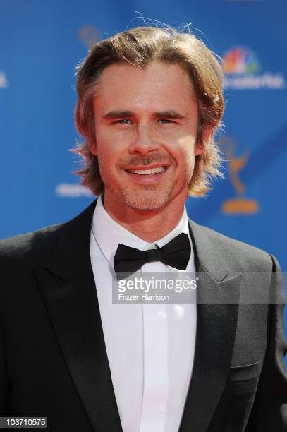Actor Sam Trammell arrives at the 62nd Annual Primetime Emmy Awards held at the Nokia Theatre LA Live on August 29 2010 in Los Angeles California