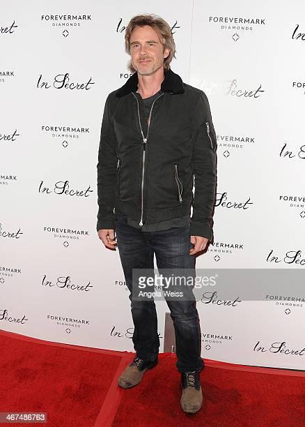 Actor Sam Trammell arrives at the Los Angeles premiere of 'In Secret' at ArcLight Hollywood on February 6 2014 in Hollywood California