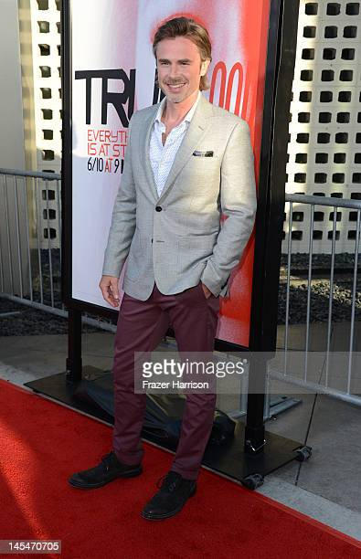 Actor Sam Trammell arrives at the Premiere Of HBO's 'True Blood' 5th Season at ArcLight Cinemas Cinerama Dome on May 30 2012 in Hollywood California