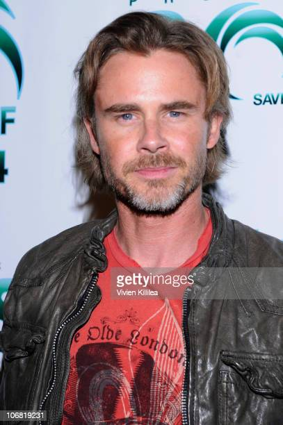Actor Sam Trammell attends Actors For Oceans Charity Event Benefiting Project Save Our Surf Arrivals at Falcon Restaurant on November 13 2010 in...