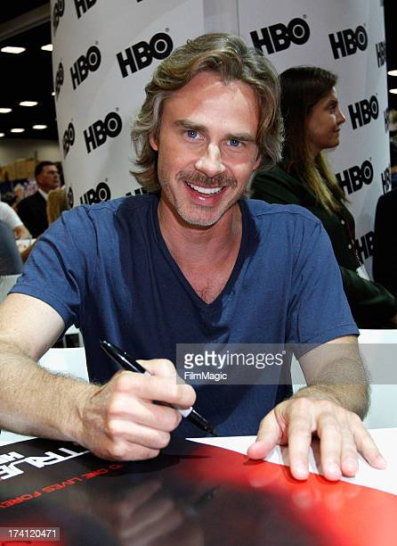"""Actor Sam Trammell attends HBO's """"True Blood"""" Cast Autograph Signing at San Diego Convention Center on July 20, 2013 in San Diego, California."""