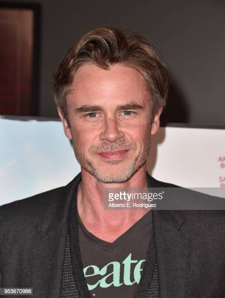 """Actor Sam Trammell attends the premiere of Sony Pictures Classics' """"The Seagull"""" at The Writers Guild Theater on May 1, 2018 in Beverly Hills,..."""