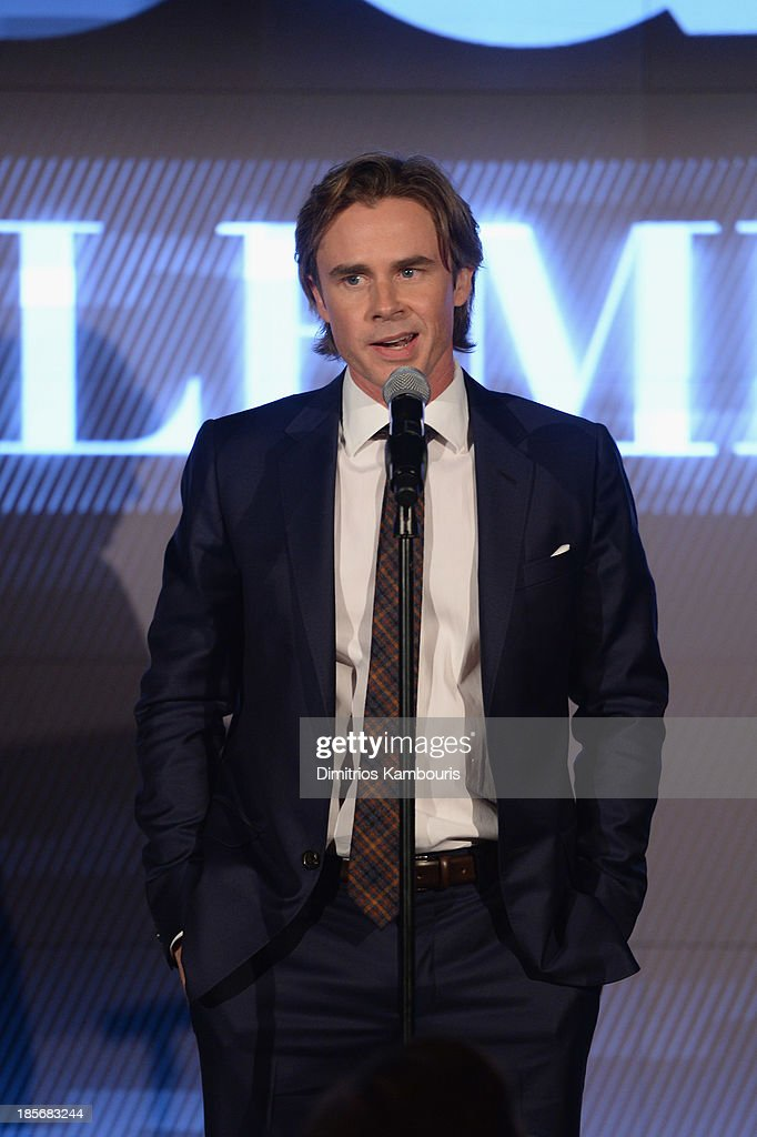Actor Sam Trammell speaks onstage at the 2013 GQ Gentlemen's Ball presented by BMW i, Movado, and Nautica at IAC Building on October 23, 2013 in New York City.