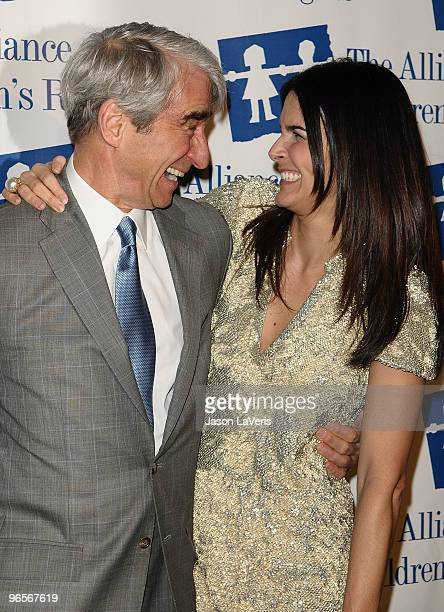 Actor Sam Waterston and actress Angie Harmon attend the Alliance for Children's Rights annual dinner gala at the Beverly Hilton Hotel on February 10...