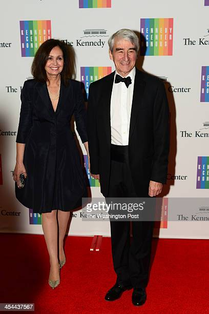 Actor Sam Waterston and wife Lynn Louisa Woodruff arrive at a special dinner for Kennedy Center honorees and guests at the State Department in...