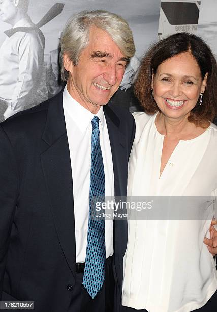Actor Sam Waterston and wife Lynn Louisa Woodruff arrive at the Los Angeles Season 2 Premiere Of HBO's Series 'The Newsroom' at Paramount Studios on...