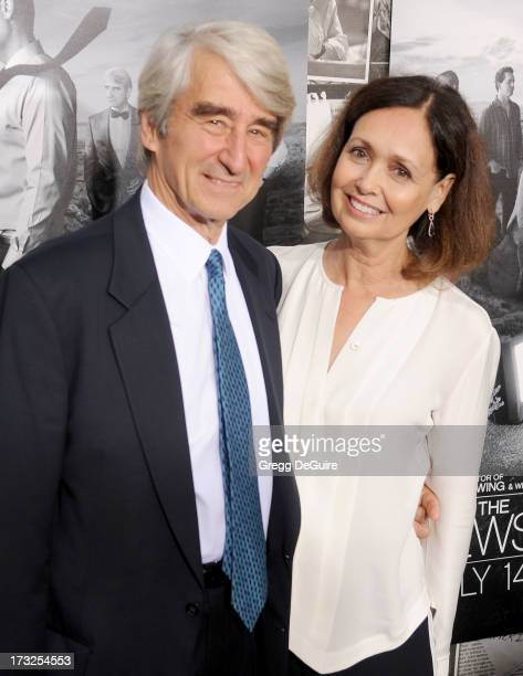 Actor Sam Waterston and wife Lynn Louisa Woodruff Waterston arrive at the Los Angeles Season 2 premiere of HBO's series 'The Newsroom' at Paramount...