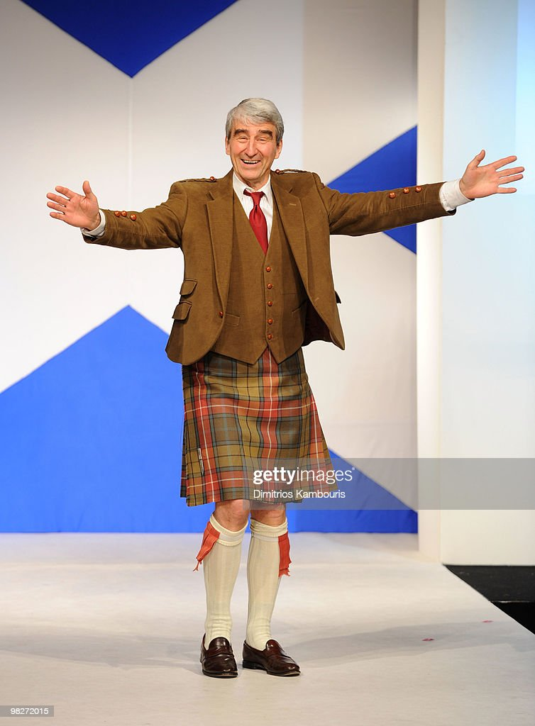 Actor Sam Waterston attends the 8th annual 'Dressed To Kilt' Charity Fashion Show at M2 Ultra Lounge on April 5, 2010 in New York City.