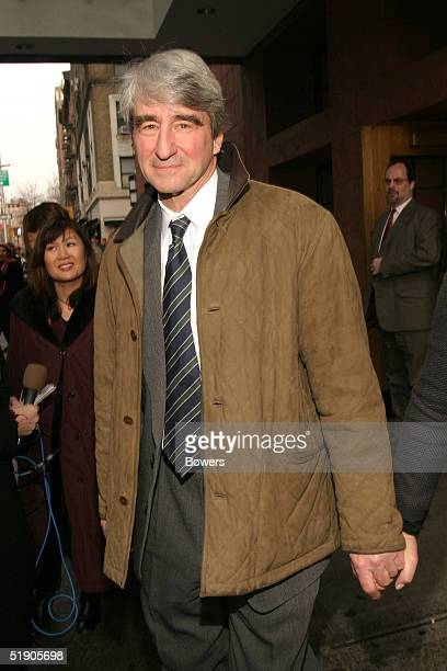 Actor Sam Waterston attends the funeral for Jerry Orbach at Riverside Chapel December 31 2004 in New York City