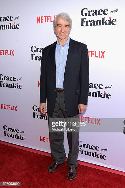 Actor Sam Waterston attends the premiere of Season 2 of the Netflix Original Series Grace Frankie at Harmony Gold on May 1 2016 in Los Angeles...