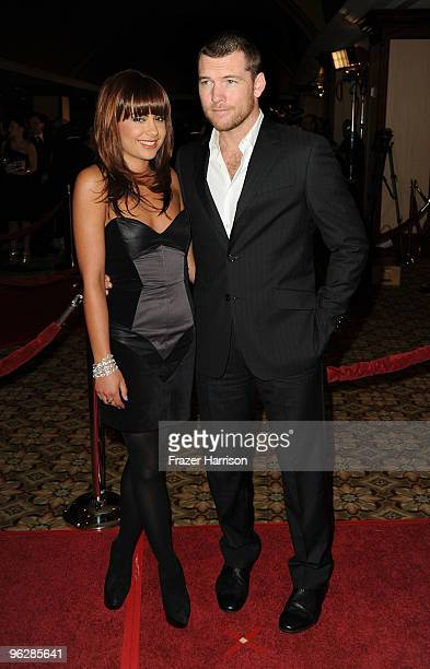 Actor Sam Worthington and Natalie Mark arrive at the 62nd Annual Directors Guild Of America Awards at the Hyatt Regency Century Plaza on January 30...