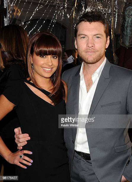 """Actor Sam Worthington and Natalie Mark arrive to the premiere of Warner Bros. """"Clash Of The Titans"""" held at Grauman's Chinese Theatre on March 31,..."""