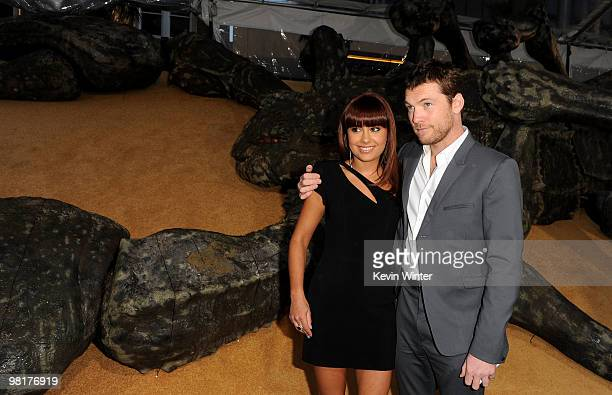 Actor Sam Worthington and Natalie Mark arrive to the premiere of Warner Bros Clash Of The Titans held at Grauman's Chinese Theatre on March 31 2010...