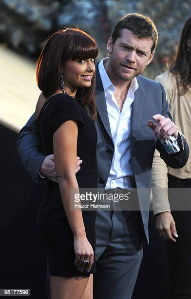 Actor Sam worthington and Natalie Mark arrives at the premiere of Warner Bros 'Clash Of The Titans' held at Grauman's Chinese Theatre on March 31...