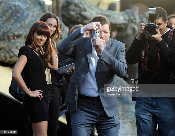 Actor Sam worthington and Natalie Mark arrives at the premiere of Warner Bros. 'Clash Of The Titans' held at Grauman's Chinese Theatre on March 31,...