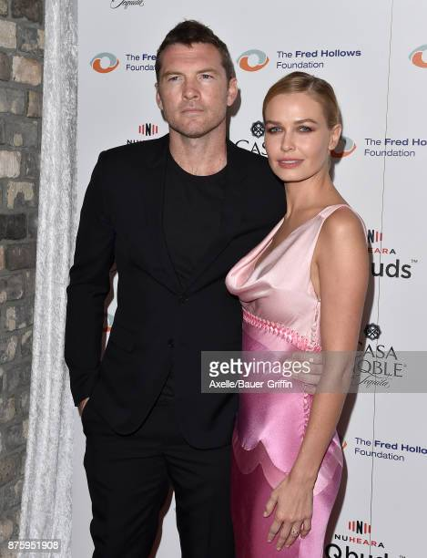 Actor Sam Worthington and wife Lara Bingle arrive at the inaugural Los Angeles gala dinner in support of The Fred Hollows Foundation at DREAM...