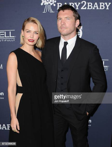 Actor Sam Worthington and wife Lara Bingle attend the 2017 Baby2Baby Gala at 3LABS on November 11 2017 in Culver City California