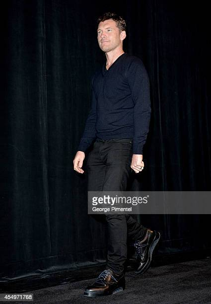 Actor Sam Worthington attends the 'Cake' premiere during the 2014 Toronto International Film Festival at The Elgin on September 8 2014 in Toronto...