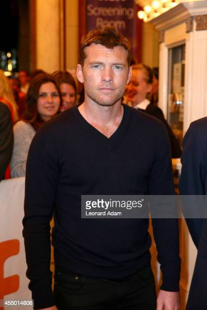 Actor Sam Worthington attends 'The Keeping Room' premiere during the 2014 Toronto International Film Festival at The Elgin on September 8 2014 in...