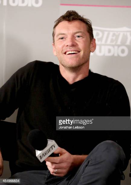 Actor Sam Worthington attends the Variety Studio presented by Moroccanoil at Holt Renfrew during the 2014 Toronto International Film Festival on...