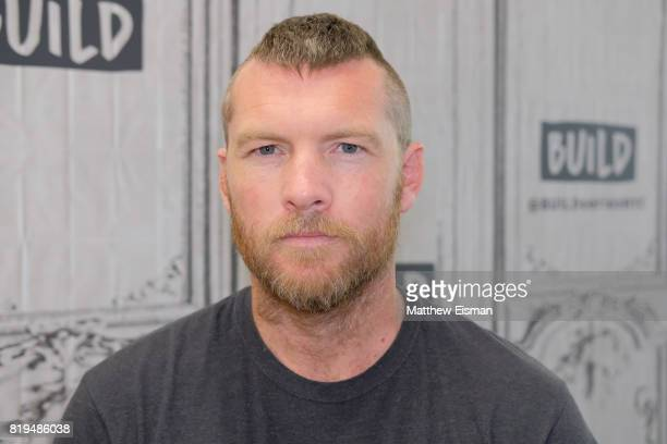 Actor Sam Worthington discusses 'Manhunt UNABOMBER' at Build Studio on July 20 2017 in New York City