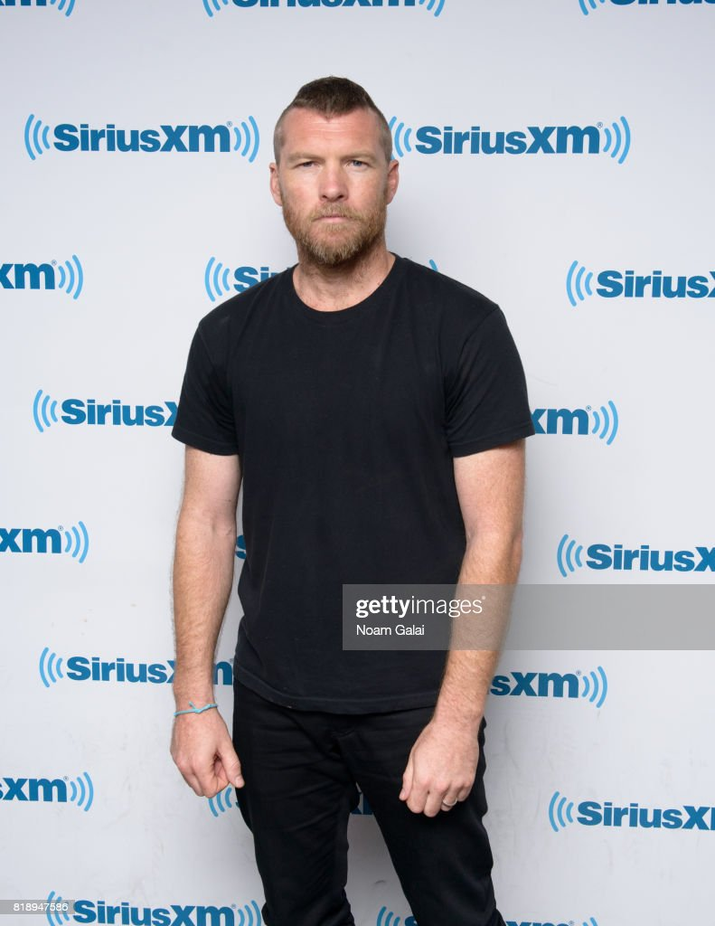 Actor Sam Worthington visits SiriusXM Studios on July 19, 2017 in New York City.