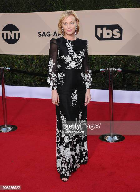Actor Samantha Mathis attends the 24th Annual Screen Actors Guild Awards at The Shrine Auditorium on January 21 2018 in Los Angeles California