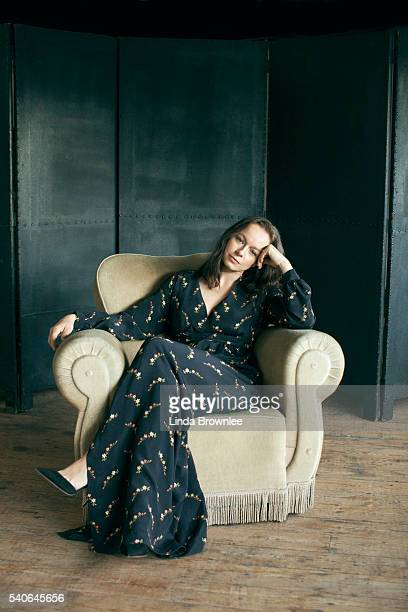 Actor Samantha Morton is photographed for the Telegraph on October 13 2015 in London England