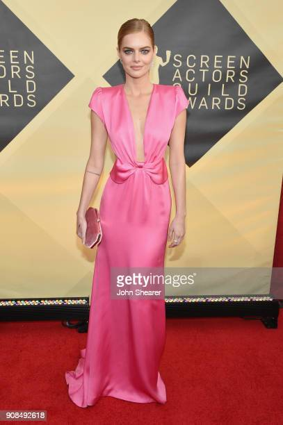 Actor Samara Weaving attends the 24th Annual Screen Actors Guild Awards at The Shrine Auditorium on January 21 2018 in Los Angeles California