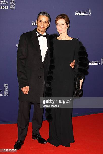 Actor Sami Bouajila and wife attend the 37th Cesar Film Awards at Theatre du Chatelet on February 24 2012 in Paris France