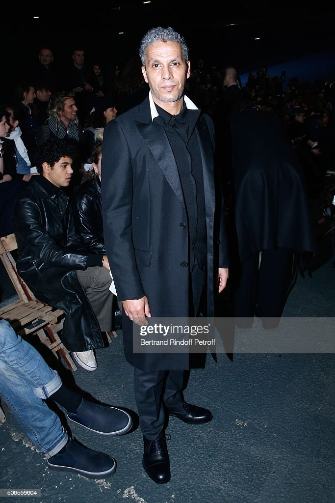 Actor Sami Bouajila attends the Lanvin Menswear Fall/Winter 2016-2017 show as part of Paris Fashion Week on January 24, 2016 in Paris, France.