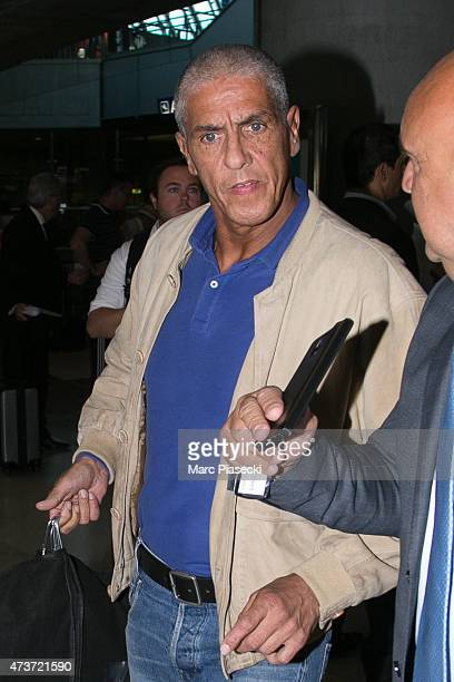 Actor Sami Naceri is seen at Nice airport during the 68th annual Cannes Film Festival on May 17 2015 in Cannes France