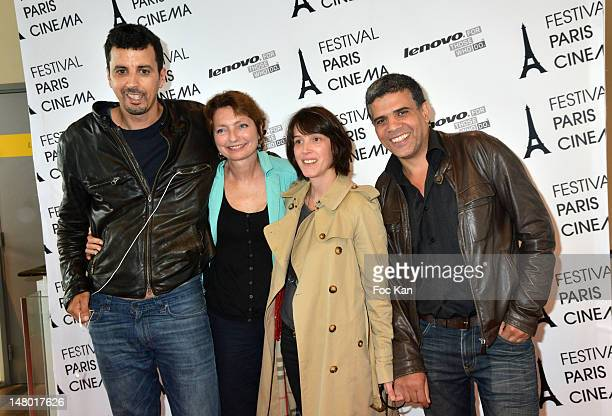 Actor Samir Guesmi director Solveig Anspach actress Florence Loiret Caille and guest attend 'The Queen of Montreuil' Premiere Festival Paris Cinema...