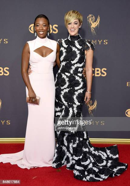 Actor Samira Wiley and writer Lauren Morelli attend the 69th Annual Primetime Emmy Awards at Microsoft Theater on September 17 2017 in Los Angeles...