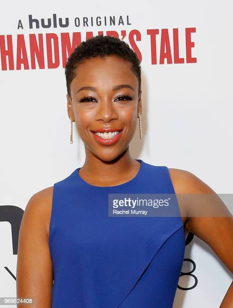 Actor Samira Wiley arrives at Hulu's The Handmaid's Tale FYC at Samuel Goldwyn Theater on June 7 2018 in Beverly Hills California