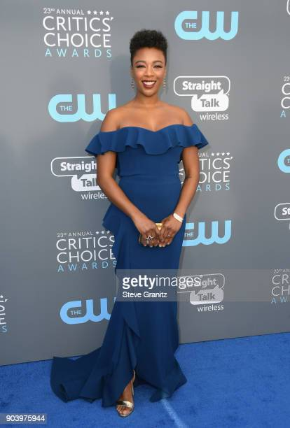 Actor Samira Wiley attends The 23rd Annual Critics' Choice Awards at Barker Hangar on January 11 2018 in Santa Monica California