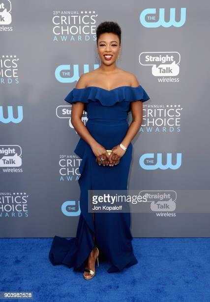 Actor Samira Wiley attends The 23rd Annual Critics' Choice Awards at Barker Hangar on January 11 2018 in Santa Monica California
