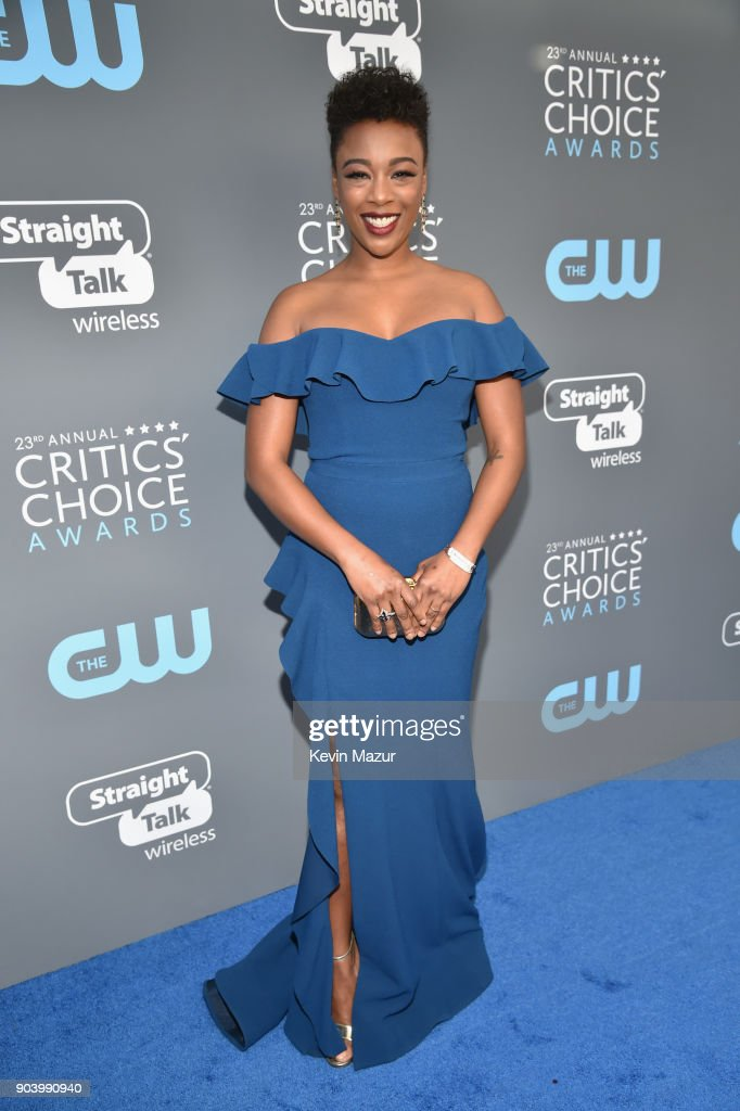 Actor Samira Wiley attends The 23rd Annual Critics' Choice Awards at Barker Hangar on January 11, 2018 in Santa Monica, California.