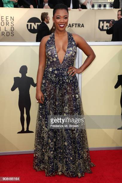 Actor Samira Wiley attends the 24th Annual Screen Actors Guild Awards at The Shrine Auditorium on January 21 2018 in Los Angeles California 27522_017