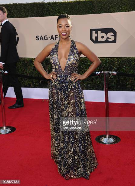Actor Samira Wiley attends the 24th Annual Screen ActorsGuild Awards at The Shrine Auditorium on January 21 2018 in Los Angeles California