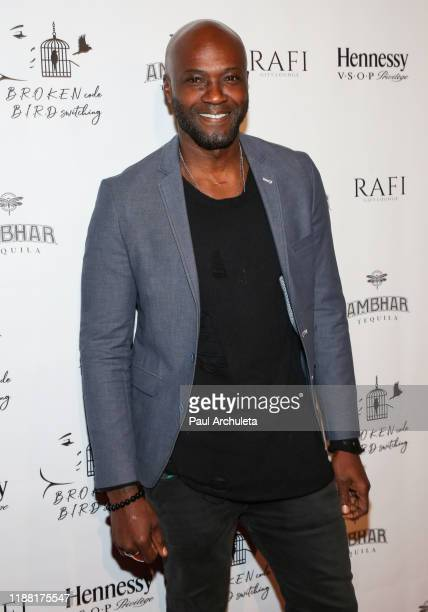 Actor Sammi Rotibi attends the media night preview of BROKEN Code BIRD Switching at S Feury Theater on November 16 2019 in Los Angeles California