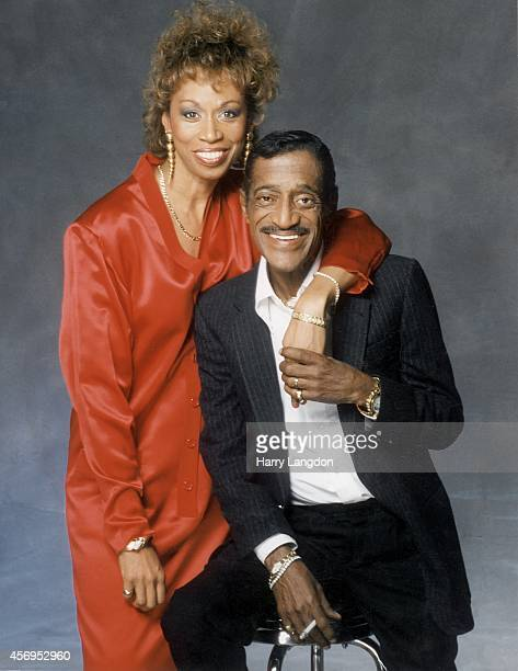 Actor Sammy Davis Jr and wife Altovise pose for a portrait in 1988 in Los Angeles California
