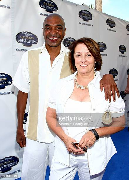 Actor Samuel E Wright and wife Mandy Wright arrive at the DVD launch of Walt Disney's 'Little Mermaid Ariel's Beginning held at the Avalon Casino on...
