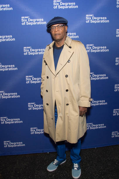 Actor Samuel Jackson Attends The Six Degrees Of Separation Opening Night Celebration At