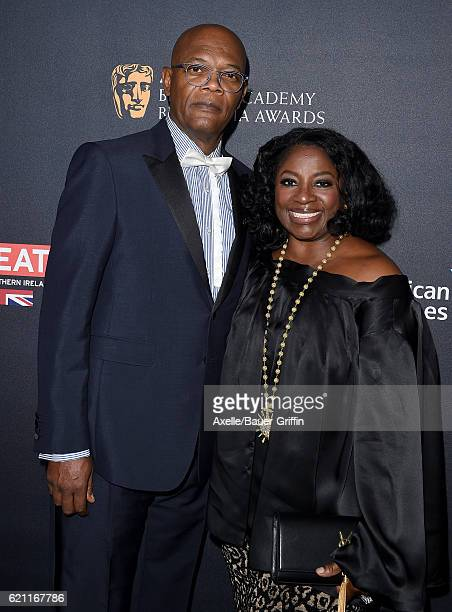 Actor Samuel L Jackson and LaTanya Richardson arrive at the 2016 AMD British Academy Britannia Awards presented by Jaguar Land Rover and American...