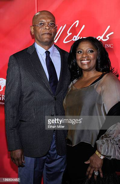 Actor Samuel L Jackson and wife LaTanya Richardson arrive at the Keep Memory Alive foundation's Power of Love Gala celebrating Muhammad Ali's 70th...